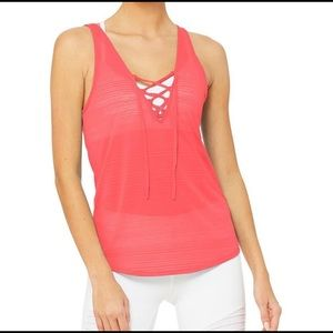 Alo yoga interlace tank NWT